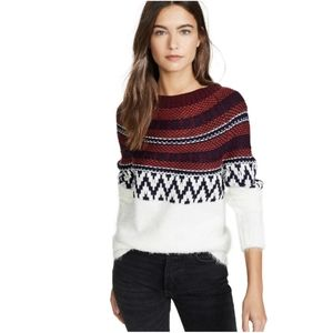 *LAST1**NEW BB Dakota Play Fair Isle Sweater